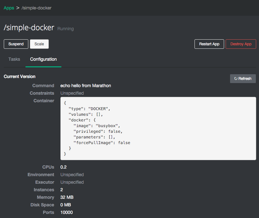 SimpleDocker-Marathon